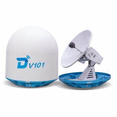 Ditel V101 105cm Ku band 3-axis stablilized maritime VSAT antenna