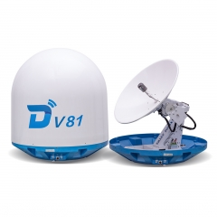 Ditel V81 83cm Ku band 3-axis stablilized maritime VSAT antenna